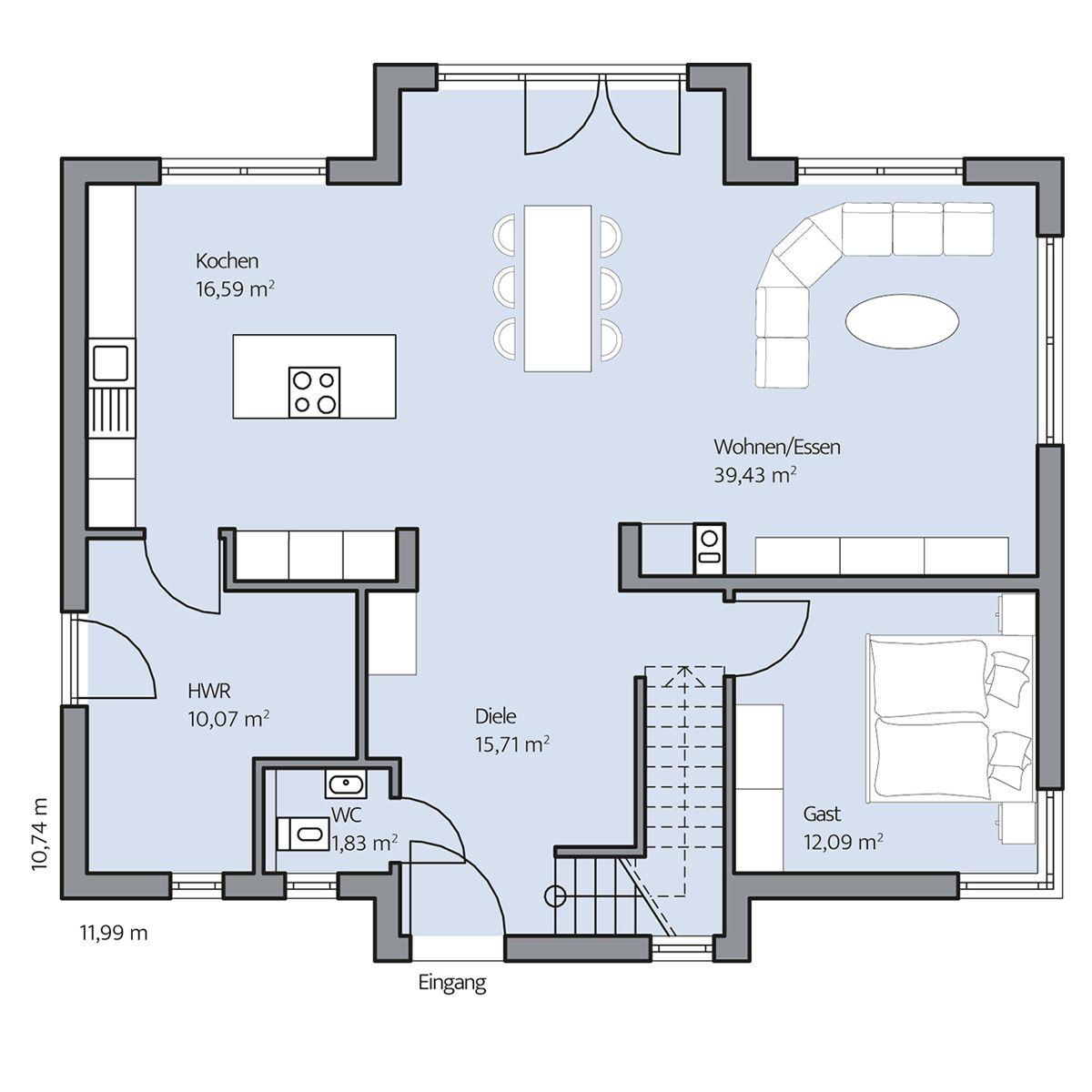 Haus arnold erdgeschoss floor plan pinterest haus for Haus plan