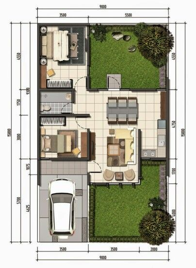 Casa tipo A - Planta 1 House, Town house and Small apartments