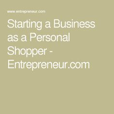 Starting A Business As Personal Per Entrepreneur
