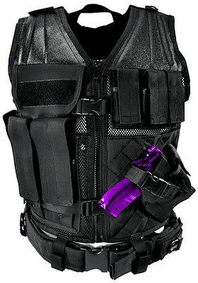 Clothing and Protective Gear 159044: Ncstar Pvc Airsoft Tactical Large Vest W Holster Mag Pouches Ctvl2916b Black -> BUY IT NOW ONLY: $51.95 on eBay!
