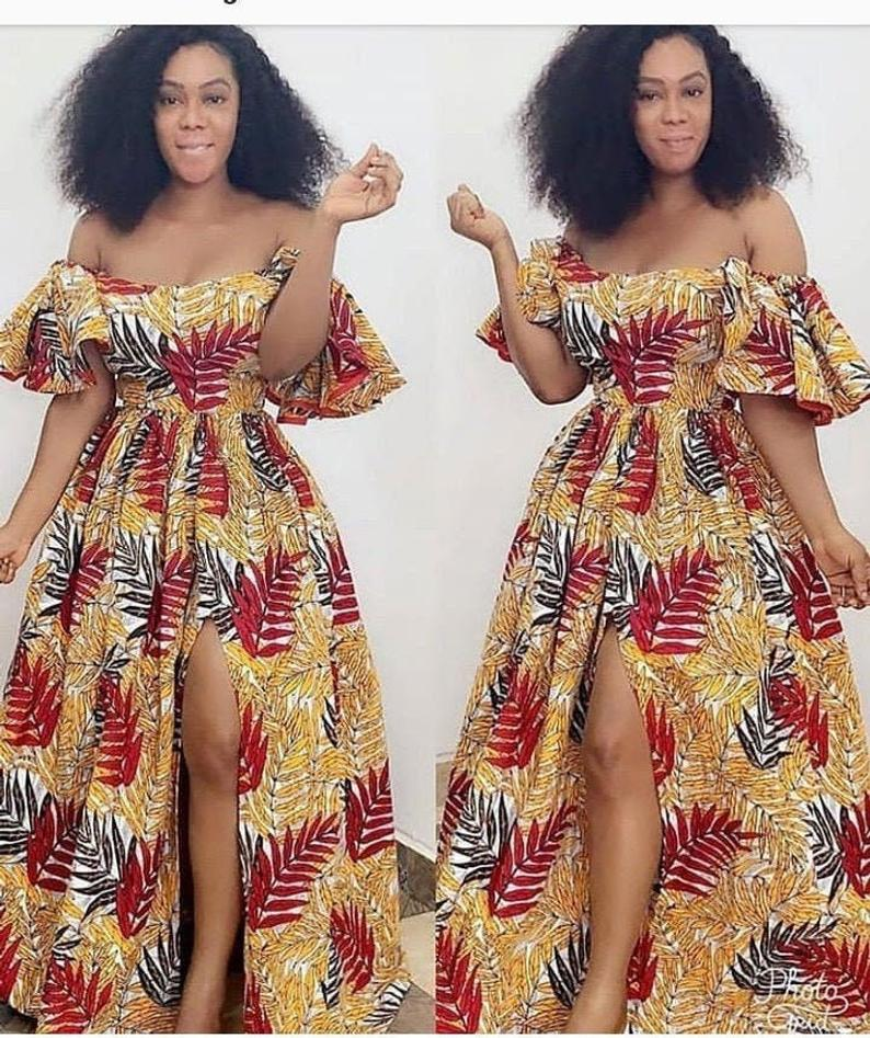 African ball gown,african Maxi dress,african off shoulder dress,African clothing for women,special Occasion womens dresses,Ankara maxi dress