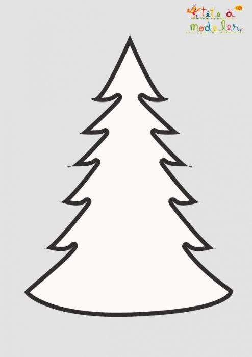 Pochoir Sapin De Noëll à Imprimer Pochoir Noel Deco