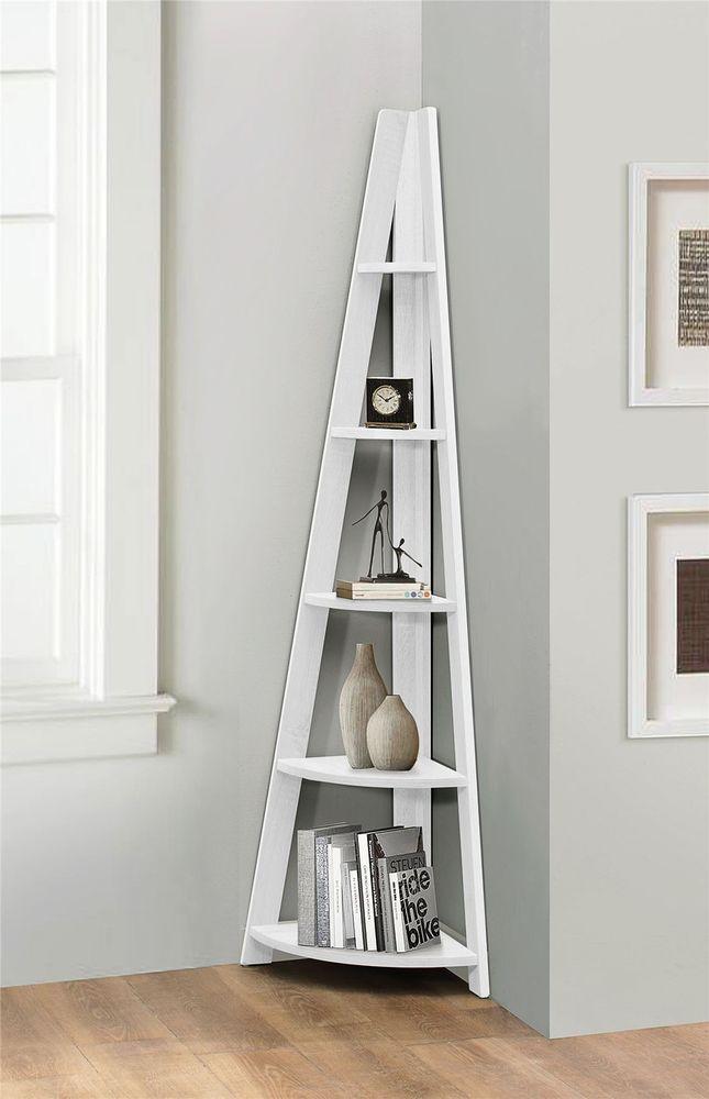de6f3cfcb734 Birlea Nordic Scandinavian Retro Corner Ladder Bookcase Shelf Unit White in  Home, Furniture & DIY, Furniture, Bookcases, Shelving & Storage | eBay!