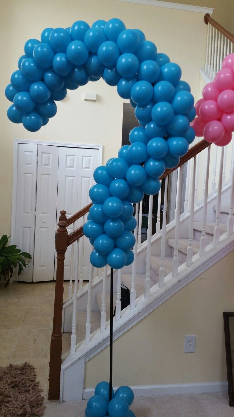 Gender reveal balloon column by Events by Car'Lisa