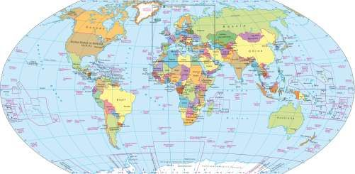 Pin By Earthh Anekvittayakij On Maps Pinterest - A political map of the world