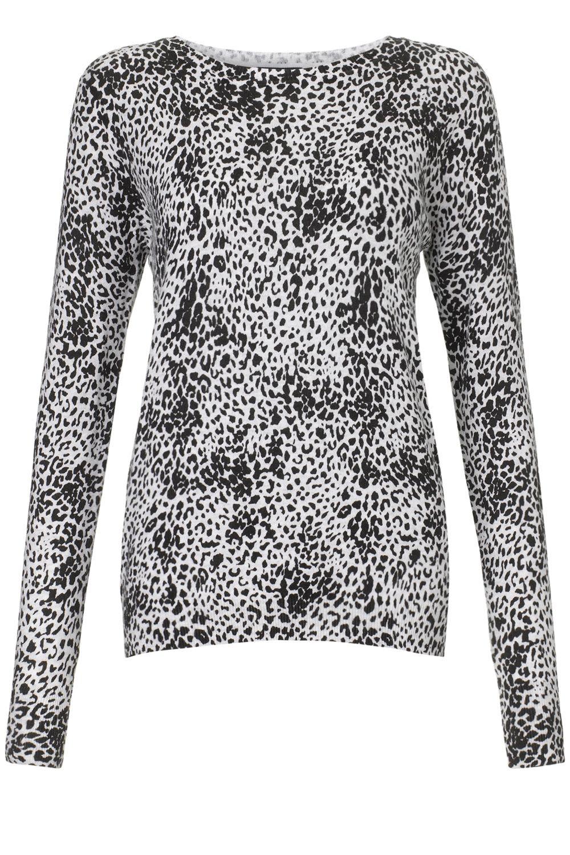 jumpers | Grey Fashion animal print crew | Warehouse | ANIMAL ...