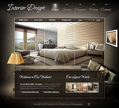 Interior design website templates flash template for for Interior design sites