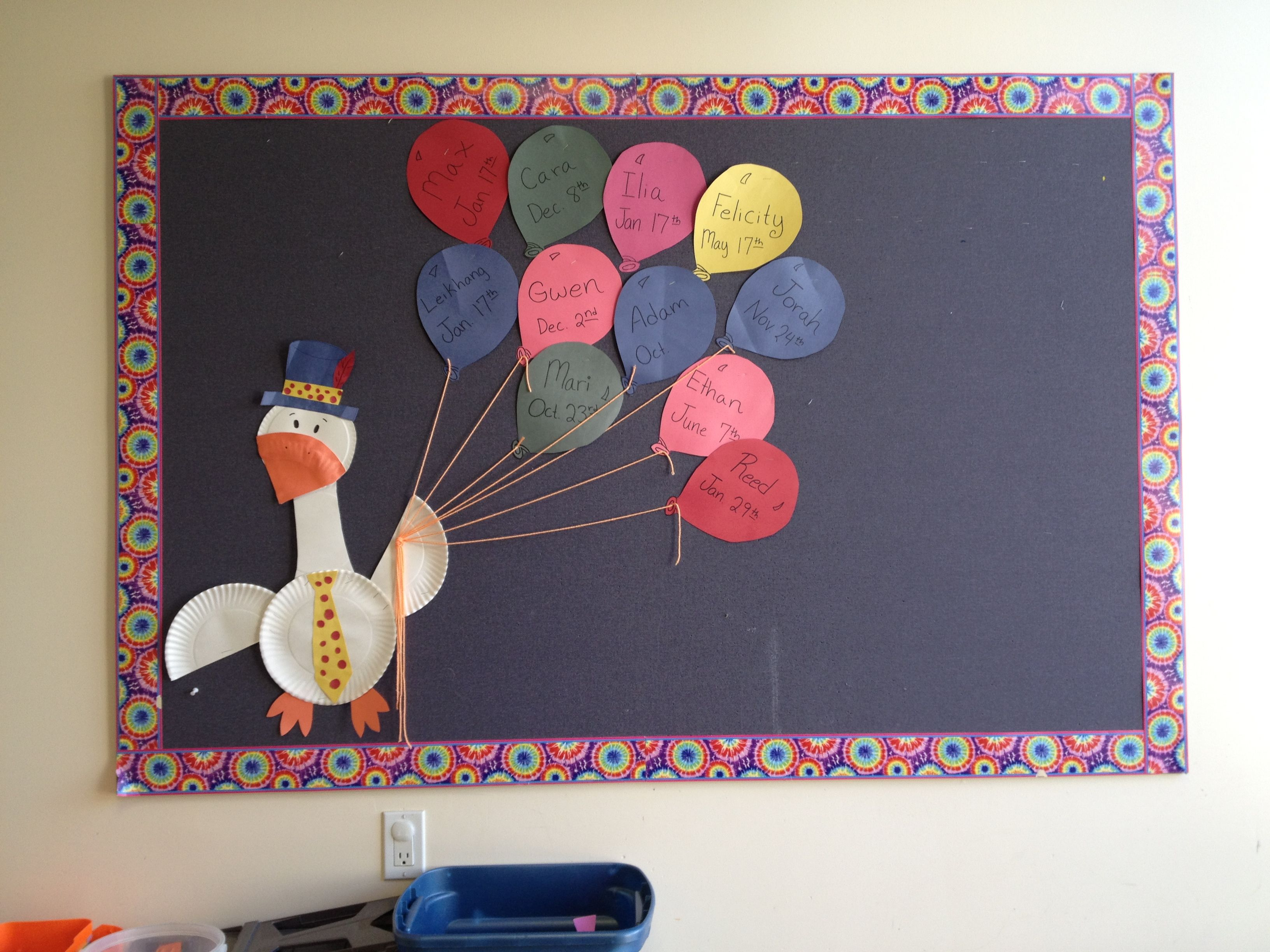 goose and balloons birthday bulletin board bulletin