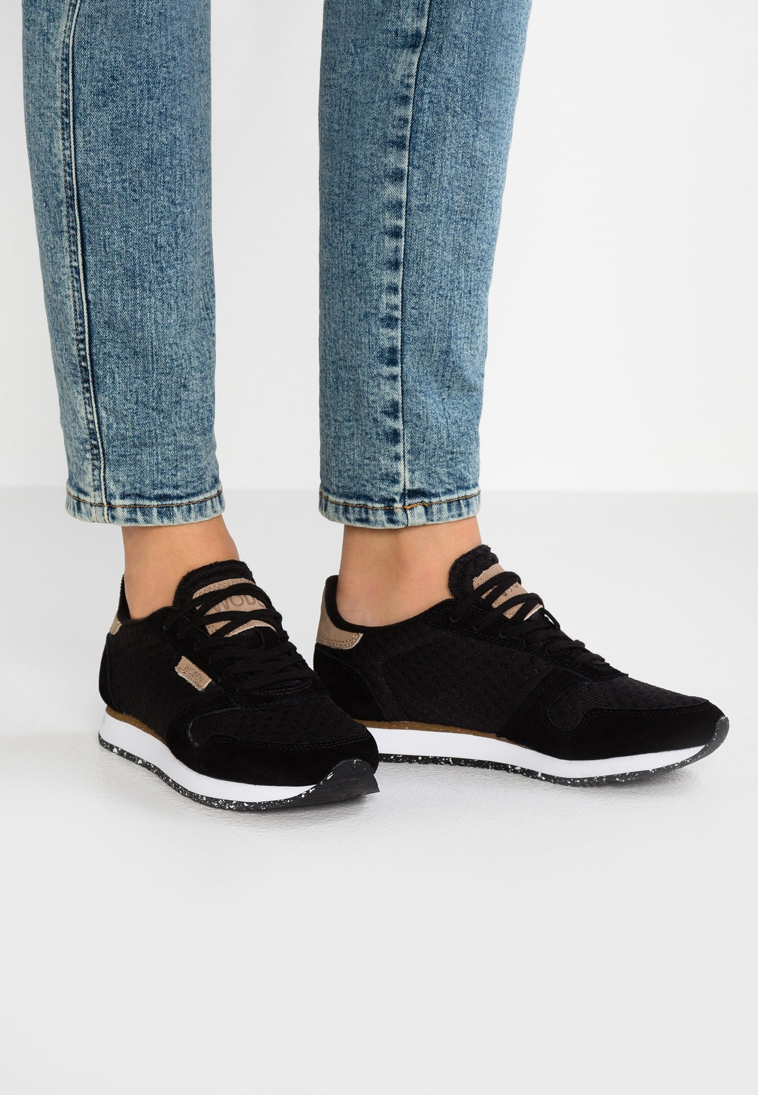 Woden Ydun Suede Mesh Sneakersy Niskie Black Zalando Pl Sneakers Black Sneakers Suede