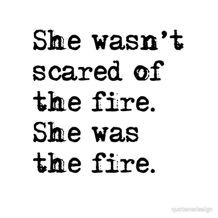 She was the fire Metal Print by quotemedesign