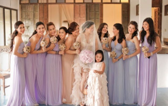 Shades Of Purple Bridesmaid Dresses