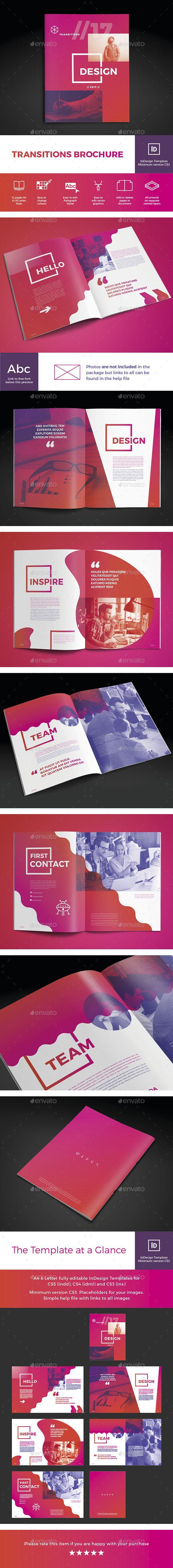 Transitions Brochure | Diseños de identidad, Lo amo y Amo