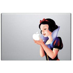 snow white decal for macbook