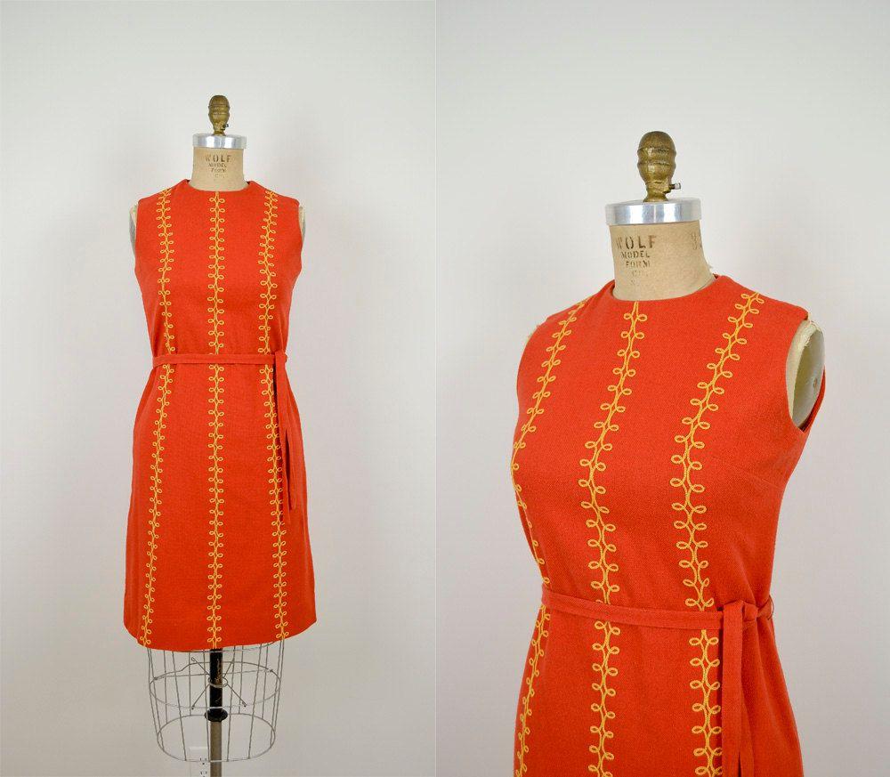 1960s Villager Dress 60s Shift Dress Summer Linen Dress Orangified Sunset Dress 92 00 Via Etsy Pretty Outfits Shift Dress Fashion [ 873 x 1000 Pixel ]