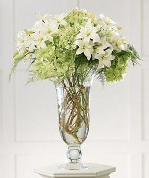 Modern Grace Altar Wedding Arrangement With White Flowers And Light Green