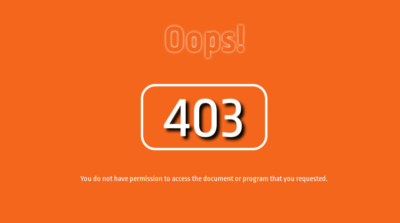 forbidden error 403 page design using html,css | NiceSnippets com