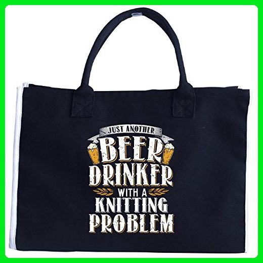 Just Another Beer Drinker With A Knitting Problem - Tote Bag - Top handle bags (*Amazon Partner-Link)