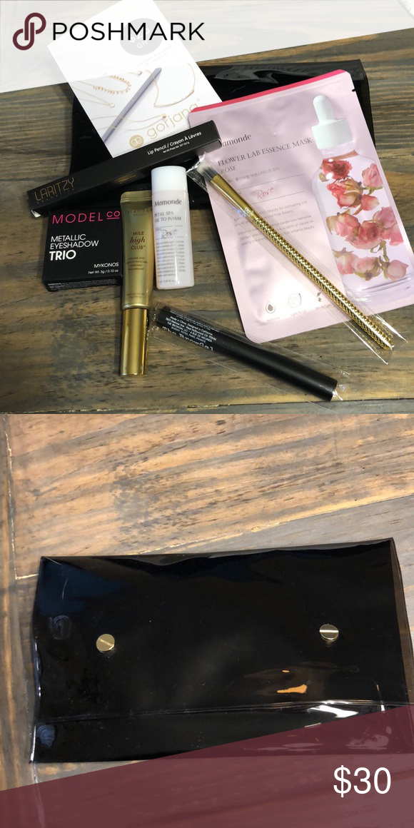 ad88b64b628 Seven Full Size Items in bag N Allure Beauty Box with Seven Items (mostly  full size), all in a clear black makeup bag! New! Includes Wander Beauty  Mile High ...