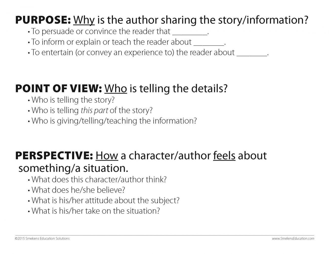 hight resolution of 6 Traits of Writing – Professional Development - Clarify \u003cI\u003ePurpose\u003c/I\u003e  versus \u003cI\u003ePoint of View\u003c…   Authors perspective