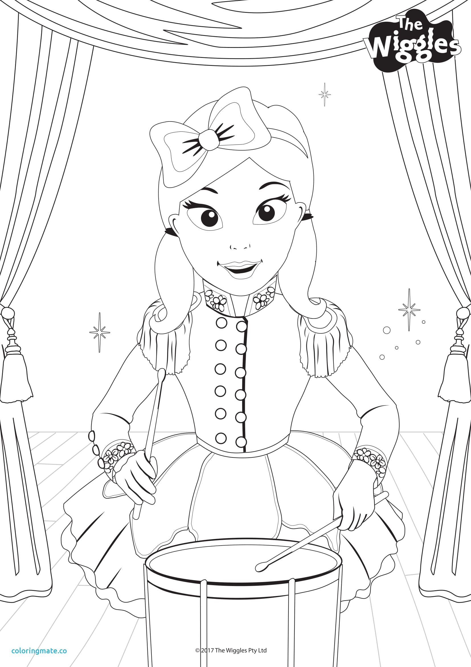 The Wiggles Coloring Pages Lovely Activity Color Emma Performer Ready Steady Wiggle Sprout Of Coloriafes Disney Wiggles Party Wiggles Birthday Emma Wiggle