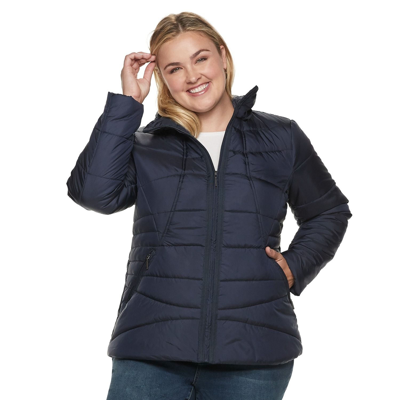 Plus Size Weathercast Hooded Puffer Jacket Puffer Jackets Jackets Plus Size [ 1500 x 1500 Pixel ]