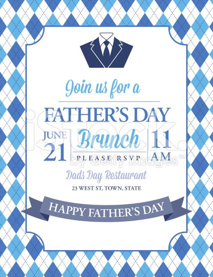 Fathers day brunch invitation on an argyle background there is a fathers day invitation template with argyle background royalty free stock vector art stopboris Image collections