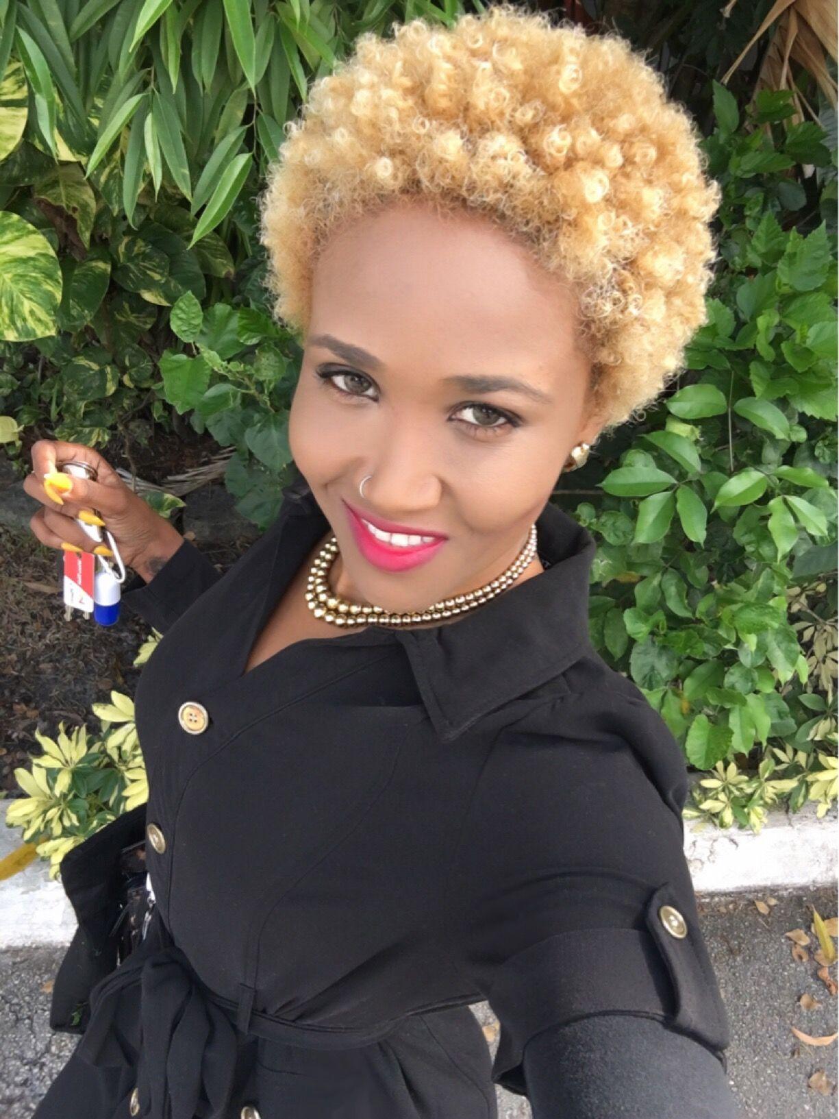 blonde curly fro haitian beauty guertie nestor natural