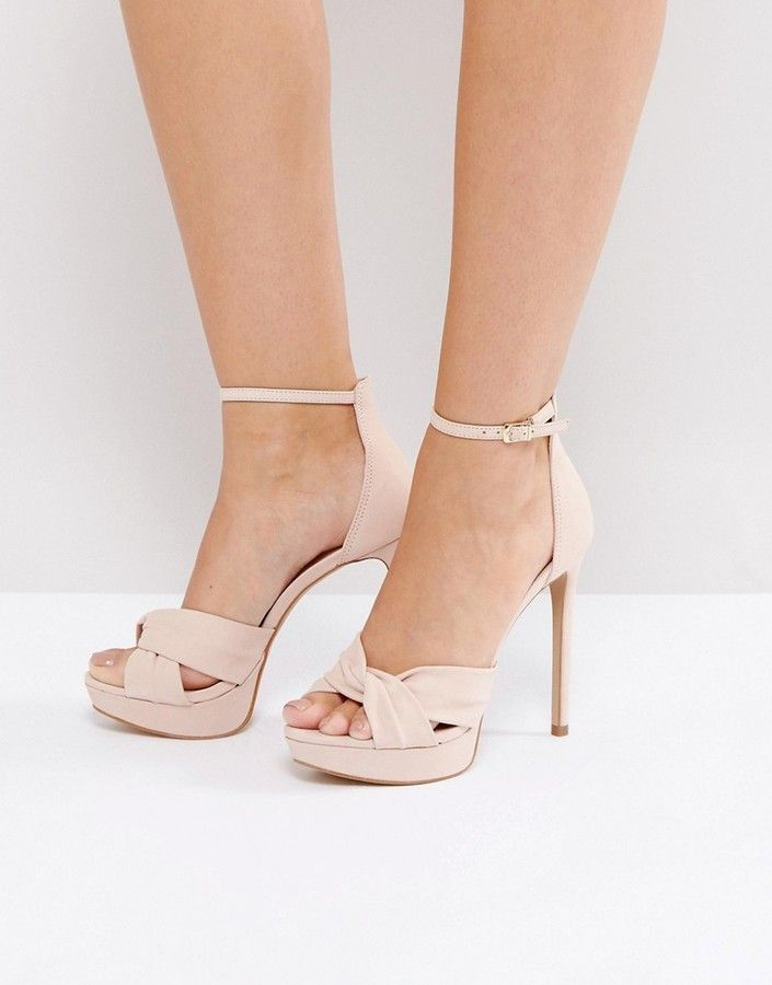 40eac9b0a ALDO Ameline Pink Cross Front Heeled Sandals Aldo Heels, Wedge Heels,  Heeled Sandals,