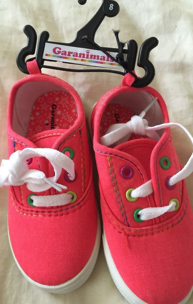 Garanimals Sneakers Girls Size 8 Coral Color Canvas Young Shoes Toddler #Garanimals #CasualShoes