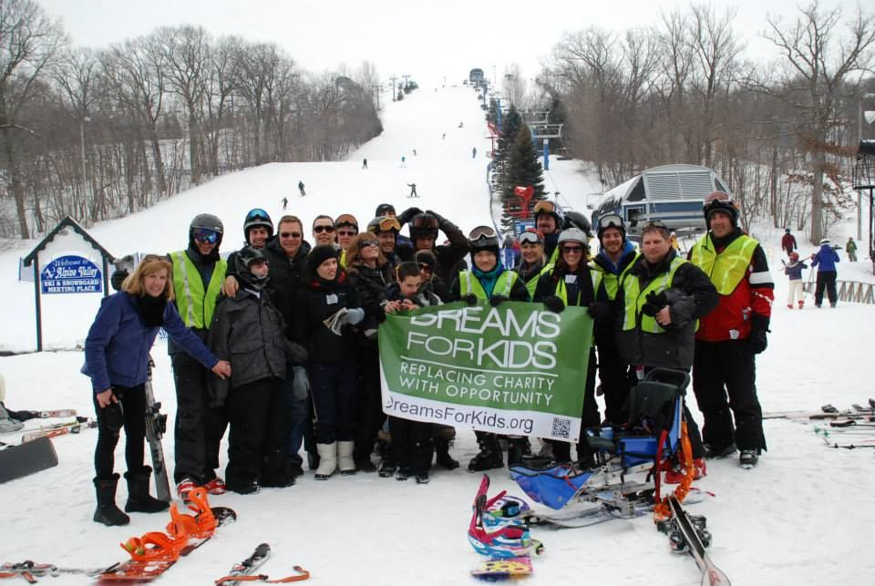 Dreams for Kids Extreme Recess: Adaptive Snow Ski Event 2014 at Alpine Valley Check out more of our events or learn how to make a difference at http://www.dreamsforkids.org/