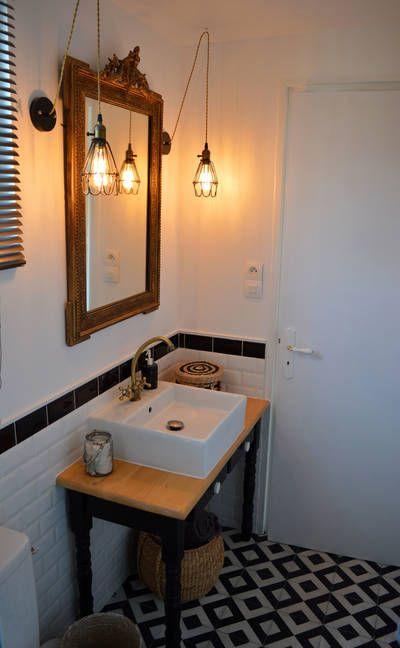 miniature Une salle de bain au style rétro-chic / industriel