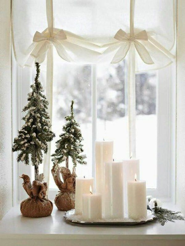 35 Bastelideen für Fenster Weihnachtsdeko                                                                                                                                                                                 Mehr
