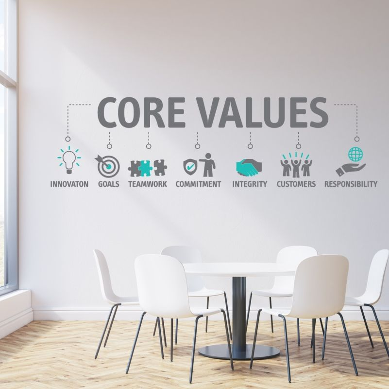 Company Values More Than Words On A Wall With Images Office