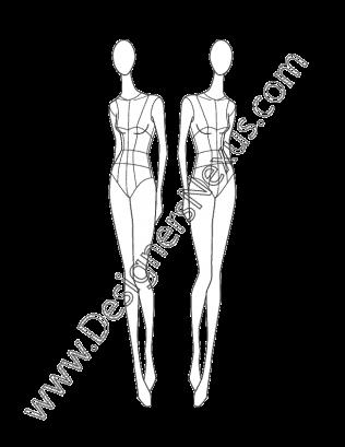 Female Fashion Croqui V7 Three Quarter Front Pose Designers Nexus Fashion Figure Templates Fashion Design Drawings Fashion Model Drawing