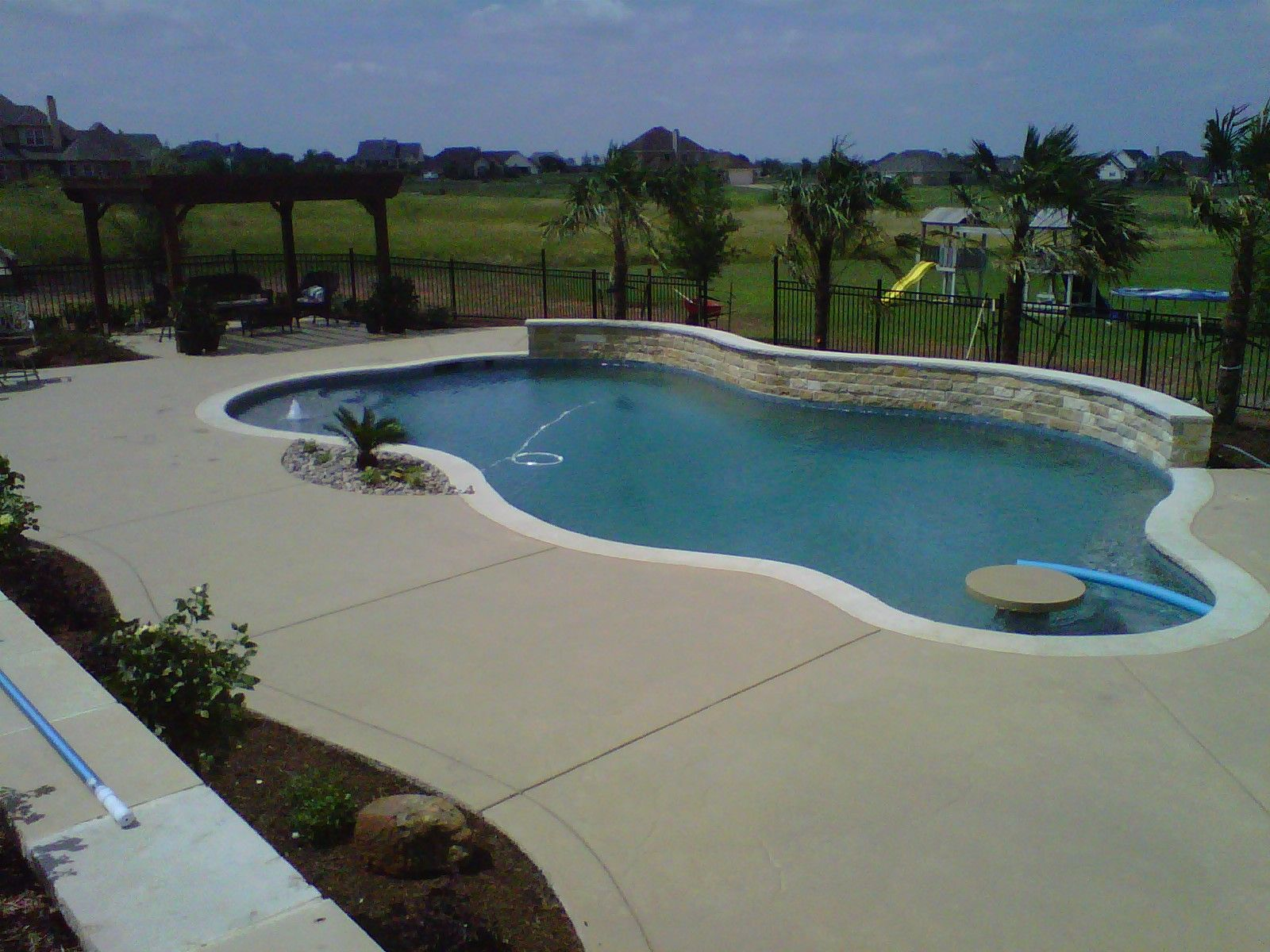 Plain Concrete Pool Deck