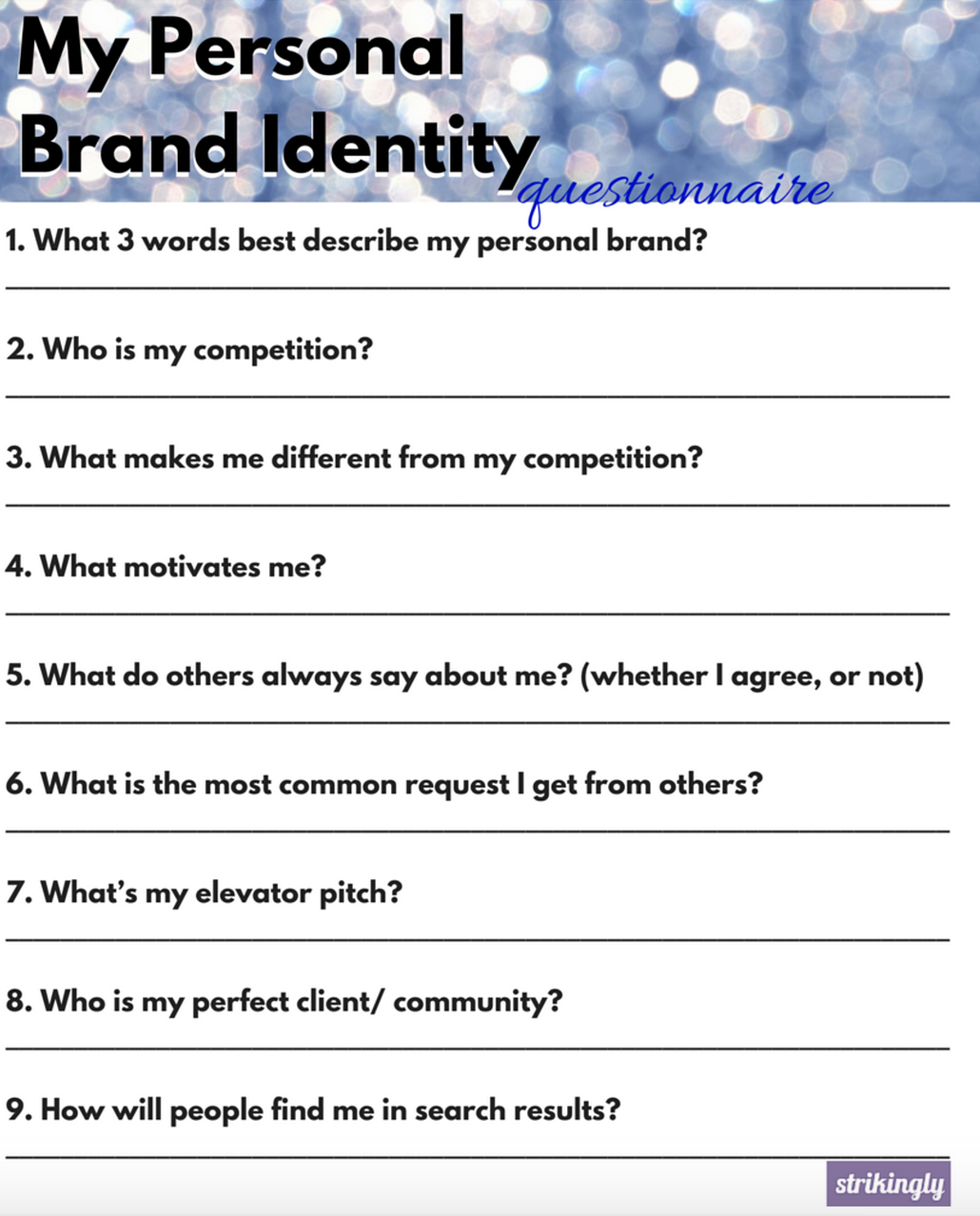 great little thing that makes all the difference personal brand great little thing that makes all the difference personal brand identity questionnaire how to build a