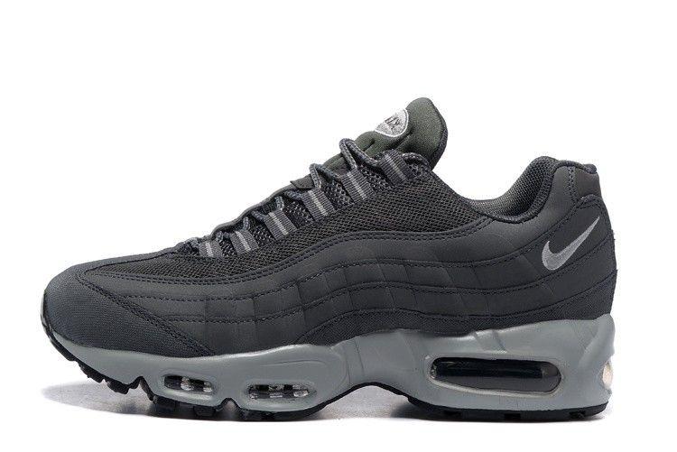 buy cheap dfd71 7c848 Nike Air Max 95 Mens Running Shoes 609048-088 Dark Grey Wolf Grey-Black