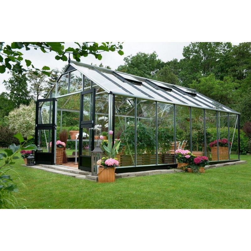 Serre de jardin 18,8m² en verre horticole Gardener Juliana sur www ...