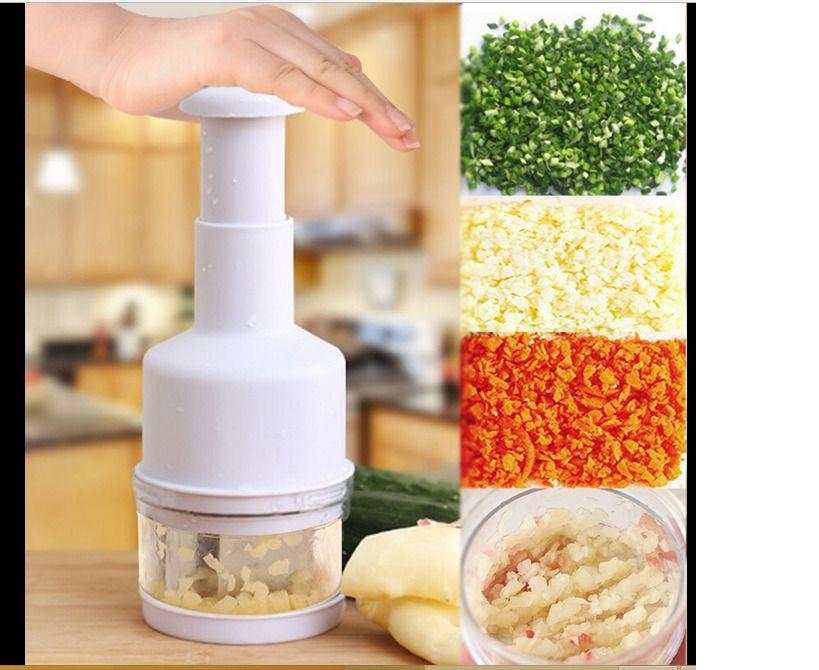 Kitchen Pressing Food Chopper Cutter Slicer Dicer Vegetable Onion Garlic E