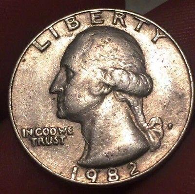 Details about 1982 P Washington Quarter, Mis-Aligned Die