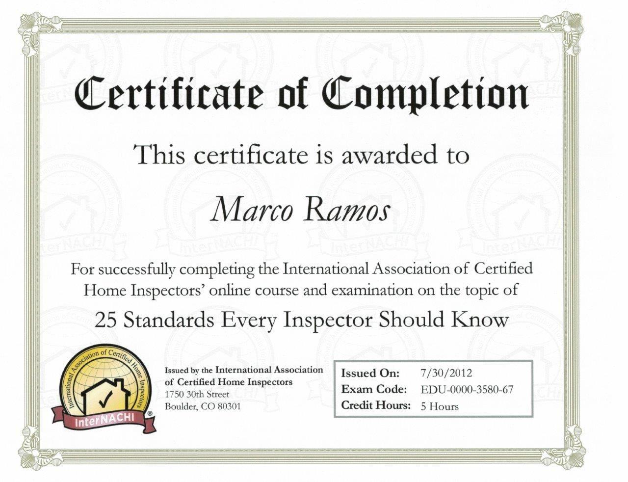 certificate georgia inspector