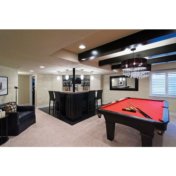 Chadsworth Point Basement ❤ liked on Polyvore featuring house, basement and rooms