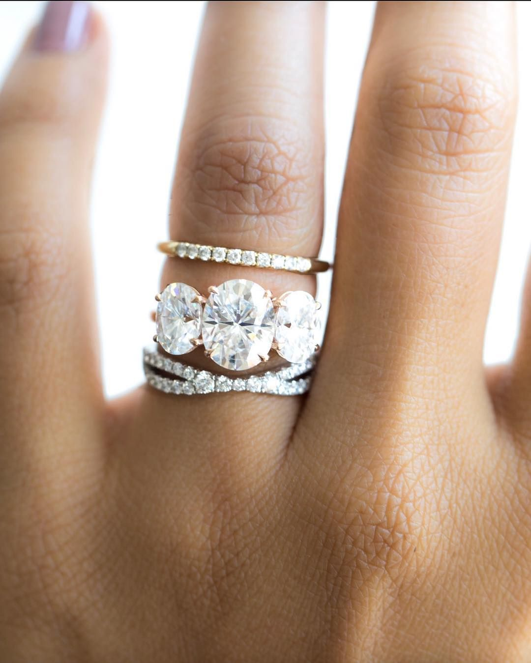 Best Wedding Band For Three Stone Engagement Ring