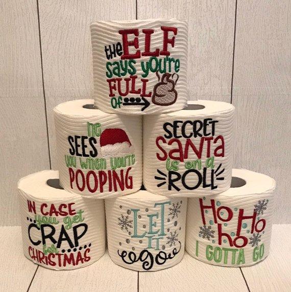 Crap Jokes Novelty Toilet Paper Roll Hilarious Jokes Christmas Secret Santa Xmas