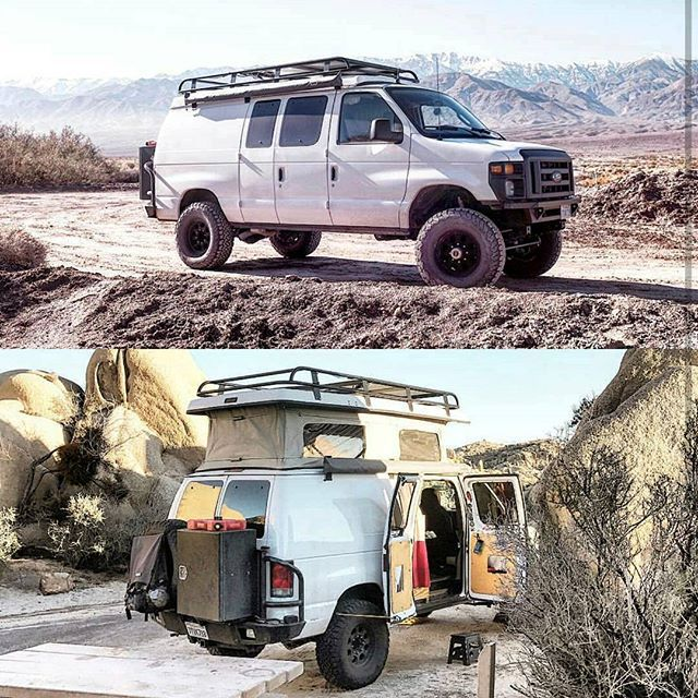 Mikegoubeaux In His Sportsmobile With Aluminess Gear Following The Sun Aluminess Roofrack Bumper Sportsmobile Ujo 4x4 Camper Van Sportsmobile Ford Van