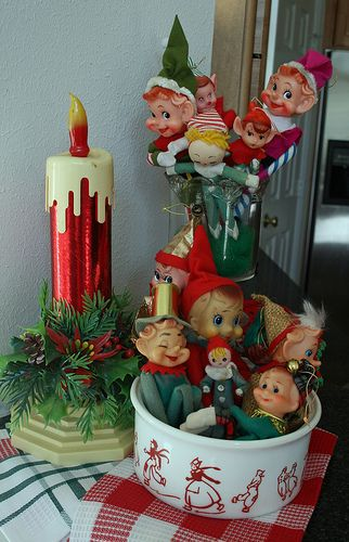 Kitchen Elves Vintage Christmas Decorations Vintage Christmas Ornaments Vintage Christmas