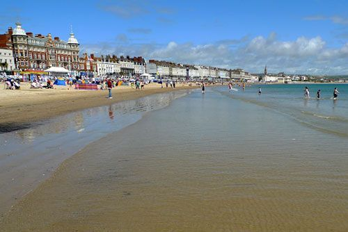 Weymouth's shallow, soft and sheltered