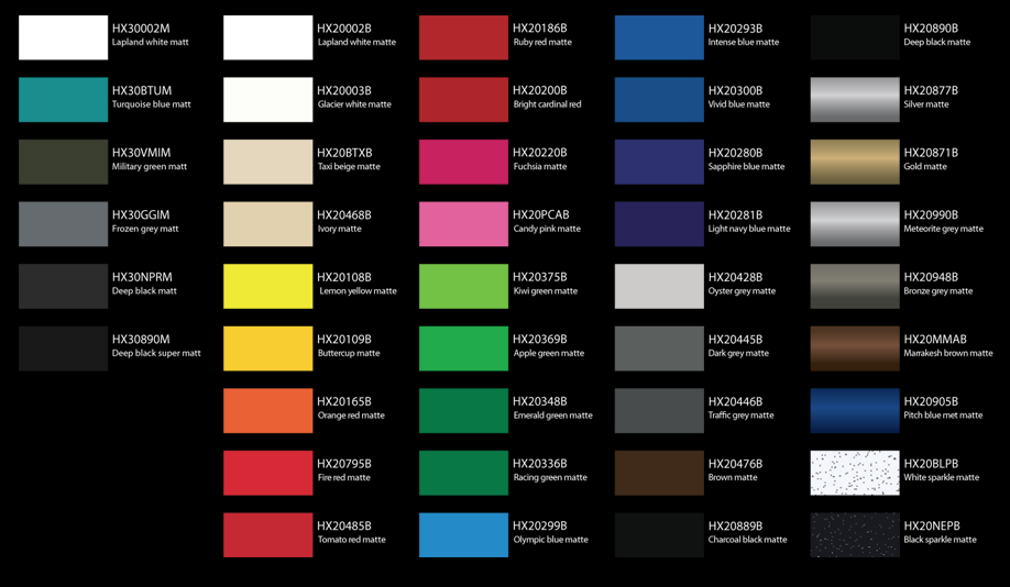 List Of Different Matte Colors For A New Car To Choose From New Cars Matte Image