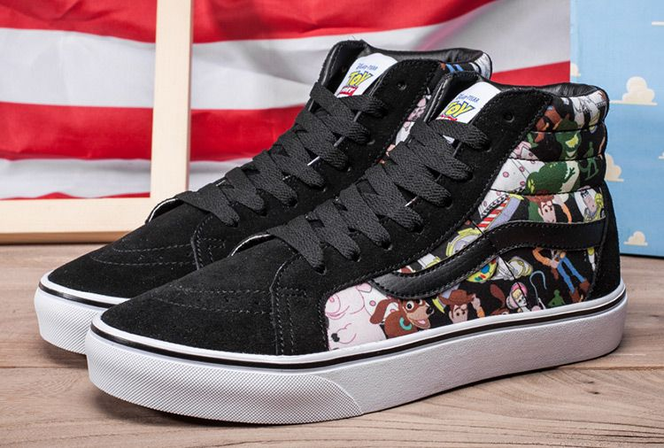 b5d9a1a854e068 Toy Story x Vans Journeys SK8 Hi Cartoon Skate Shoes  Vans ...