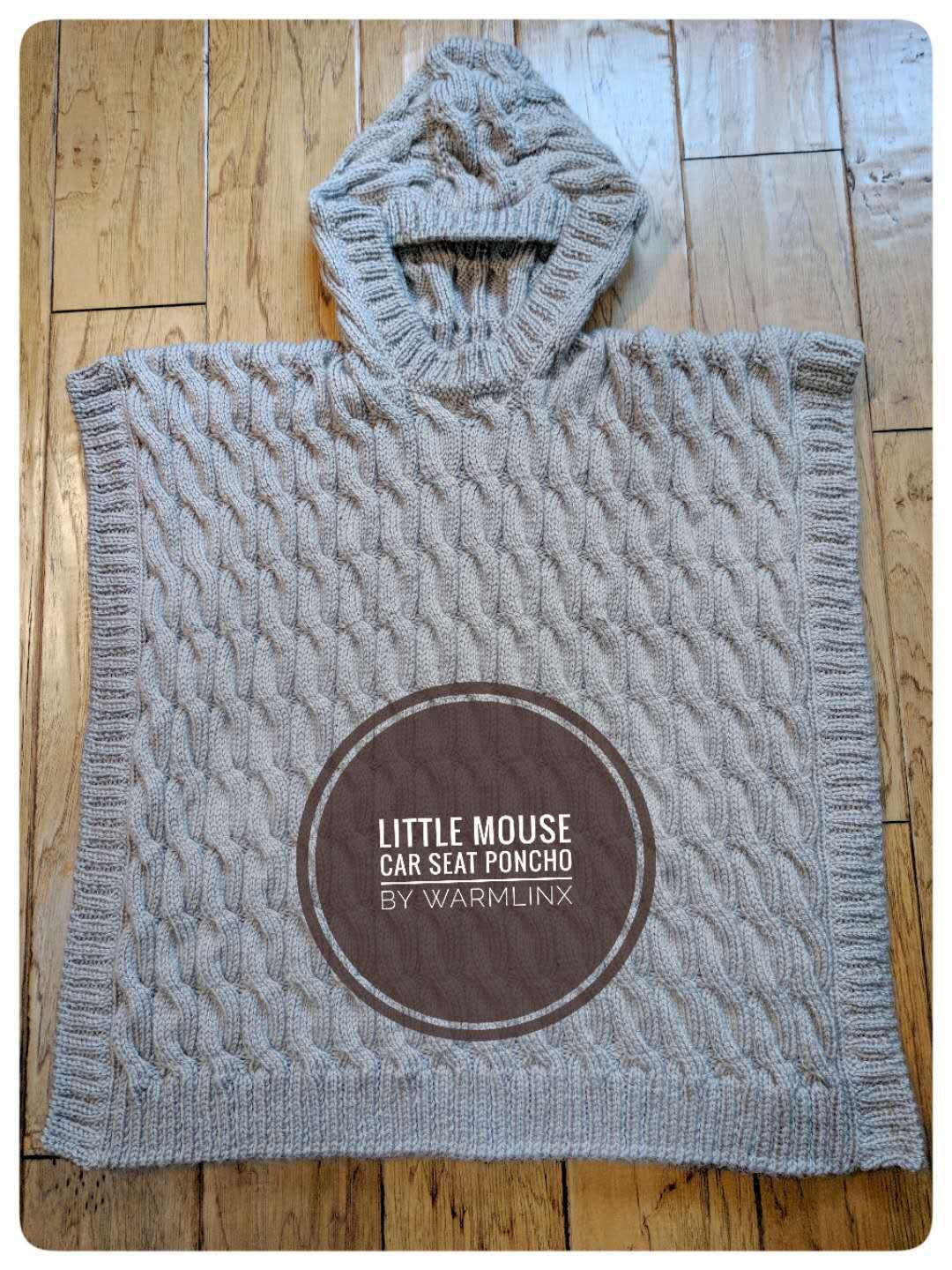 Baby Car Seat Blanket Free Pattern Little Mouse Carseat Poncho Knitting Pattern Knit Crochet